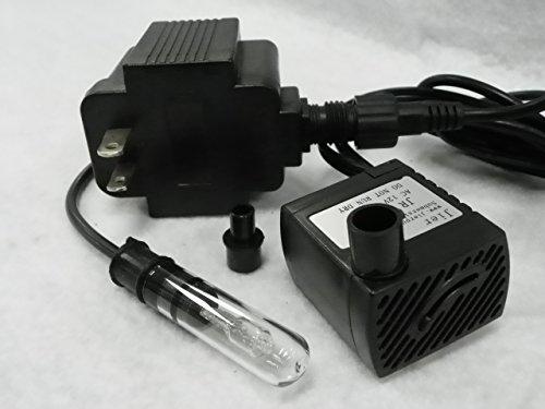 66 Gph Apjr250l American Pond Small Fountain Pump With 10 Watt Finger Light