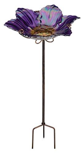 Regal ArtGift BirdbathFeeder with Stake Purple