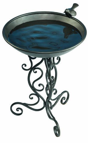 Gardman BA01272 Ornate Metal Bird Bath 14 Wide x 19 High
