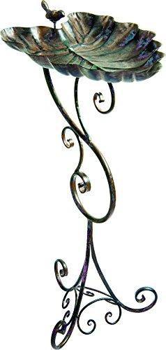 Gardman BA01691 Ornate Leaf Metal Bird Bath 1201 Wide x 2933 High