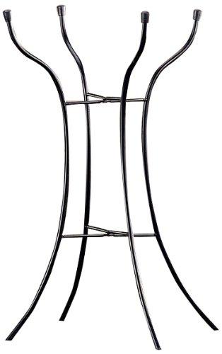 Gift Craft 248-Inch Metal Birdbath Stand Medium Black