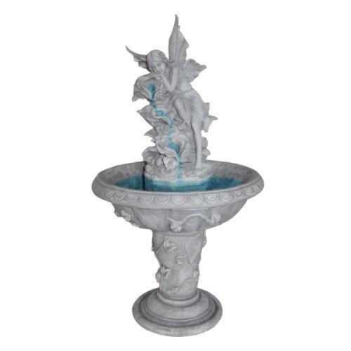 Design Toscano Pixie Fairy Sculptural Fountain Antique Stone