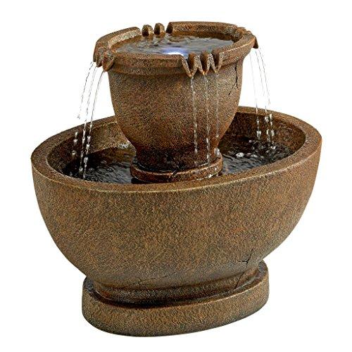 Design Toscano Richardson Oval Urns Cascading Garden Fountain Grande