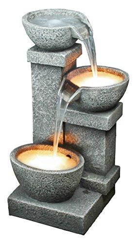 Design Toscano Villa Castle Cascading 3-bowl Garden Fountain