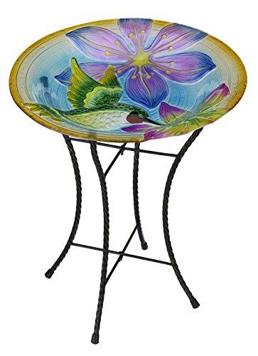 Regal Artamp Gift Hummingbird Glow Birdbath  18&quot