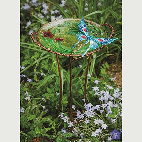 Evergreen Enterprises EG2GB312 Sculpted Butterfly Bird Bath with Stand