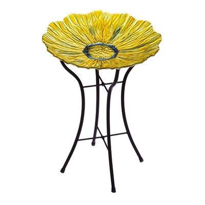 Evergreen Enterprises Golden Flower Birdbath With Stand