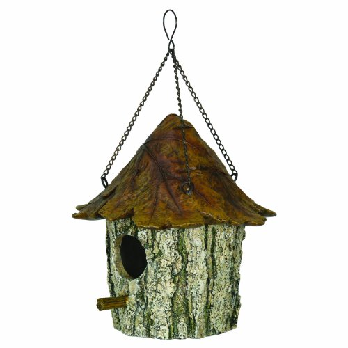 Rivers Edge Oak And Tree Leaf Birdhouse Brown