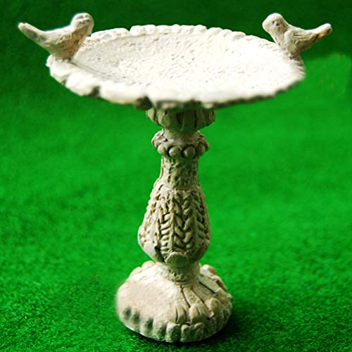 112 Scale Furniture Resin Bird Bath Fountain Fairy Garden Hangmade Dollhouse Mini Garden Decor Supply
