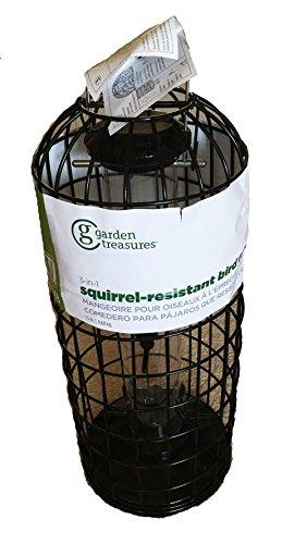 Garden Treasures 3-in-1 Squirrel Resistant Metal Bird Feeder