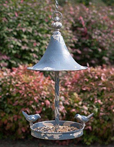 Love Birds Vintage Farmhouse Roof Hanging Bird Feeder - Metal