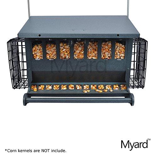 Myard Metal Hopper Double Sided Bird Feeder 2 Suet Cake Feeders  MBF 7452