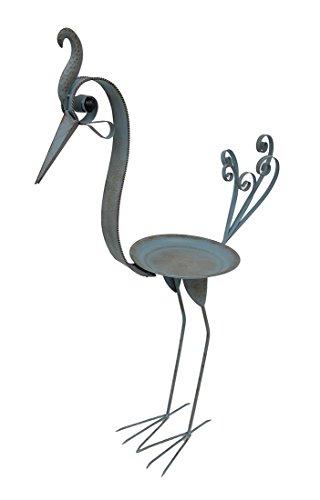 Peacock Standing Decorative Metal Bird Feeder Sculpture