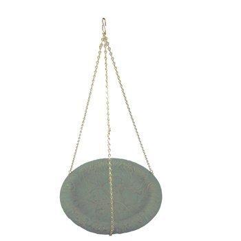 Whitehall Verdigris Oakleaf Hanging Birdbath - 00757