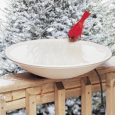 Heated Resin Bird Bath