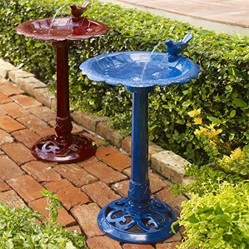 Brylanehome Levine Resin Bird Bath Fountain Red0