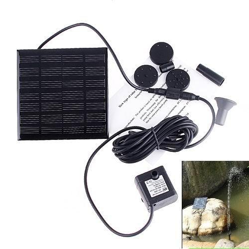 RivenAn Solar Pump for Water Fountain  Solar Powered Panel Kit Pool Garden Watering Submersible Pump Birdbath Fountain - With Separate Solar Panel