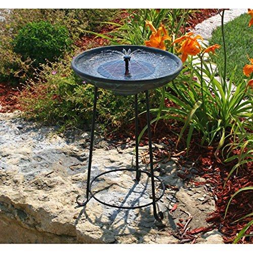 Somerset Verdigris Solar Bird Bath Fountain