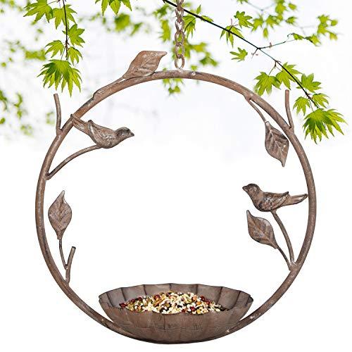 Tenforie Bird Feeder Hanging Tray Seed Tray for Bird FeedersBird Bath Attractive Long Lasting Outdoor Garden Backyard Decorative Great for Attracting Pet Hummingbird Feeder