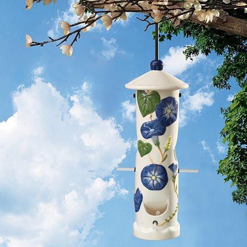 Bits and Pieces - 13 Ceramic Hanging Wild Bird Feeder - Durable Outdoor Garden Décor