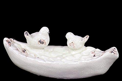 Ceramic Bird Feeder in White