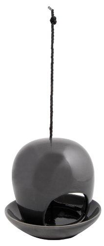 Esschert Design FB191G Hanging Ceramic Birdfeeder Gray