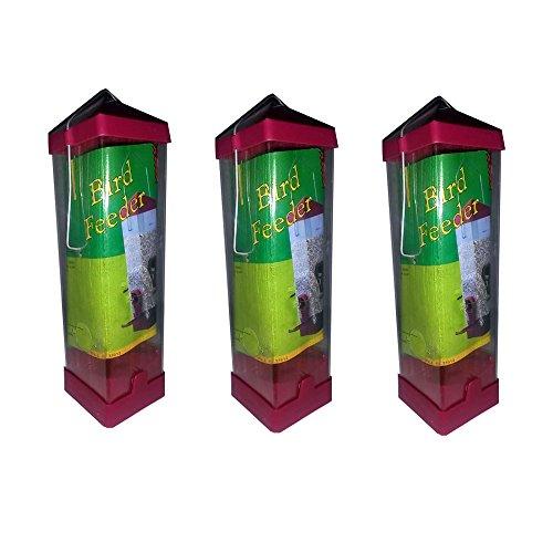 Clear Plastic Bird Feeder Savings Bundle Lot of 3