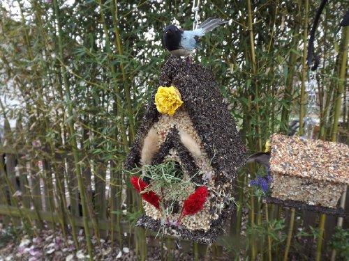 Edible Birdfeeder - Tall Dark Birdhouse