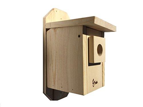 JTown Bluebird Bird House - Bird Feeder Outdoor Natural Wood Wooden Birdhouse Easy Clean Door Predator Safe