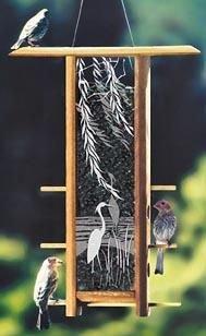 Schrodt Designs TH-16HW Heron Willows Teahouse Birdfeeder
