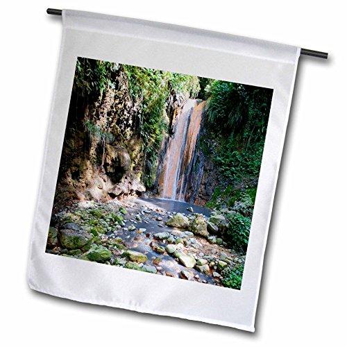 Danita Delimont - Waterfalls - Diamond Waterfall Botanical Gardens and Waterfall St Lucia - 18 x 27 inch Garden Flag fl_226592_2