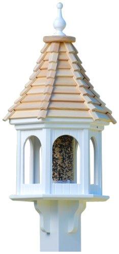 The Birdhouse Chick - Gazebo Bird Feeder-PVC 28x12 Cypress Shake