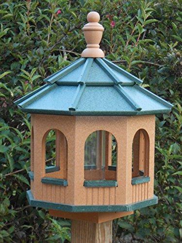 Vinyl Gazebo Bird Feeder Amish Homemade Handmade Handcrafted Cedar Green med