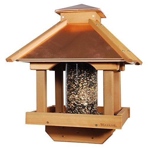 Woodlink Copgazebo Coppertop Wood Gazebo Bird Feeder