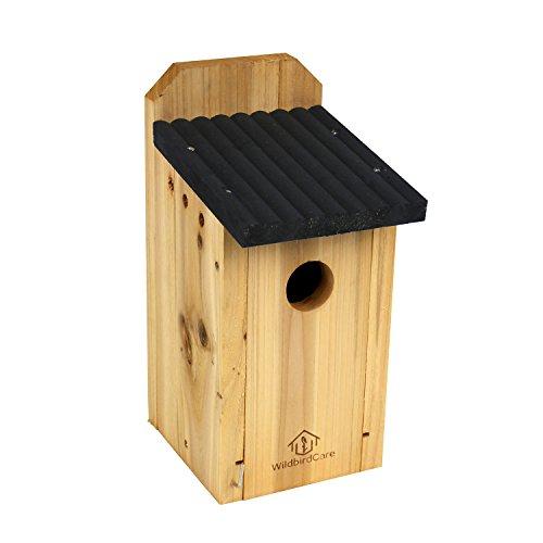 Wildbird Care Bluebird Box Cedar Bird House Bch2a, Natural