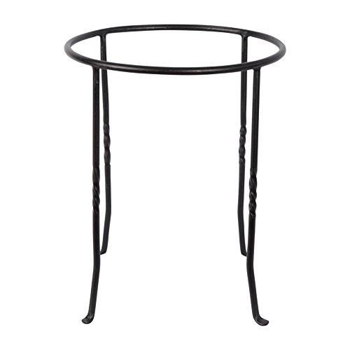 Achla Designs FB-14 Ring Wrought Iron Metal Plant birdbath Bowl Stand Flowerpot Holder Black