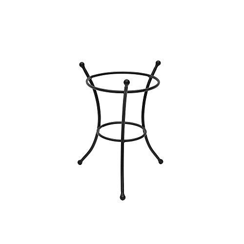 Achla Designs GBS-20 Multi-Use Small Wrought Iron Metal Plant birdbath Bowl Stand Flowerpot Holder 8 Black