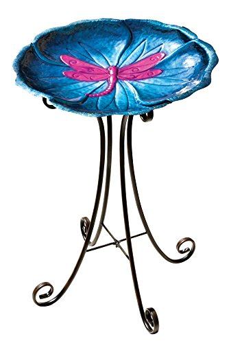 Regal Art Gift Birdbath with Stand Dragonfly