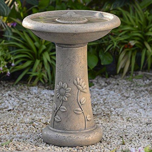 Jeco Sunflower Classical Garden Birdbath