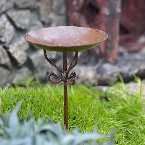 Miniature Fairy Garden Birdbath Pick