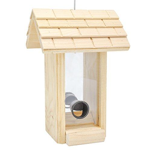 Gardirect Wooden Hanging Bird Feeding Station Wild Bird Seed Feeder High Energy Content 8-12 Tall