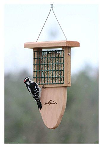 Kettle Moraine Cedar Single Suet Bird Feeder with Woodpecker Tail Prop 8315TP