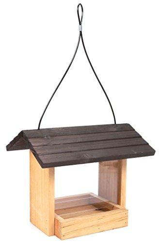 Wild Wings WWCF24 2 quart Hopper Bird Feeder Wood Roof