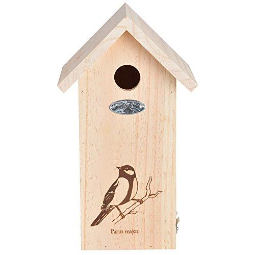 Esschert Design Nk66 Birdhouse With Great Tit Line Drawing