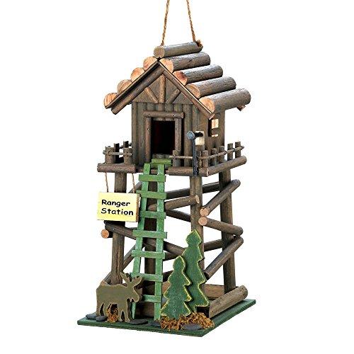 Ranger Station Wooden Birdhouse Decorative Bird Houses Bird House Decorations Birdhouses for Outside and Birdhouses for Outdoors Great Birdhouse Designs and Wooden Birdhouses