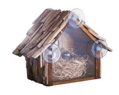 Driftwood Rear View Birdhouse