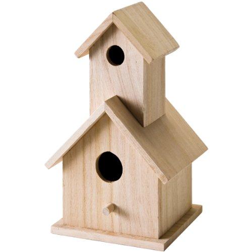 Plaid Wood Surface Crafting Birdhouse 12741 Story