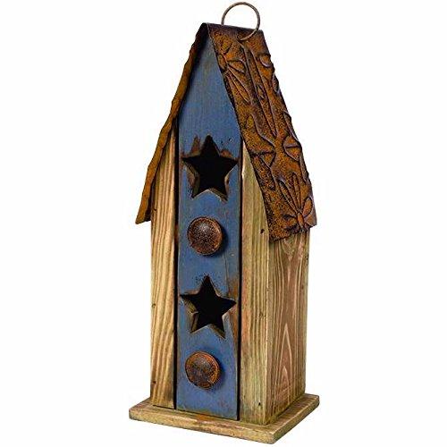 Carson Home Accents Vintage Blue Birdhouse