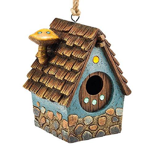 Department 56 Garden Guardians Blue Cottage Birdhouse 8h