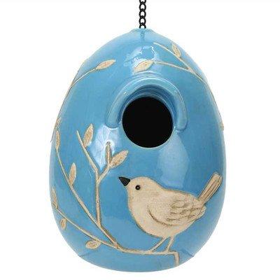 Natures Garden Egg Birdhouse Blue